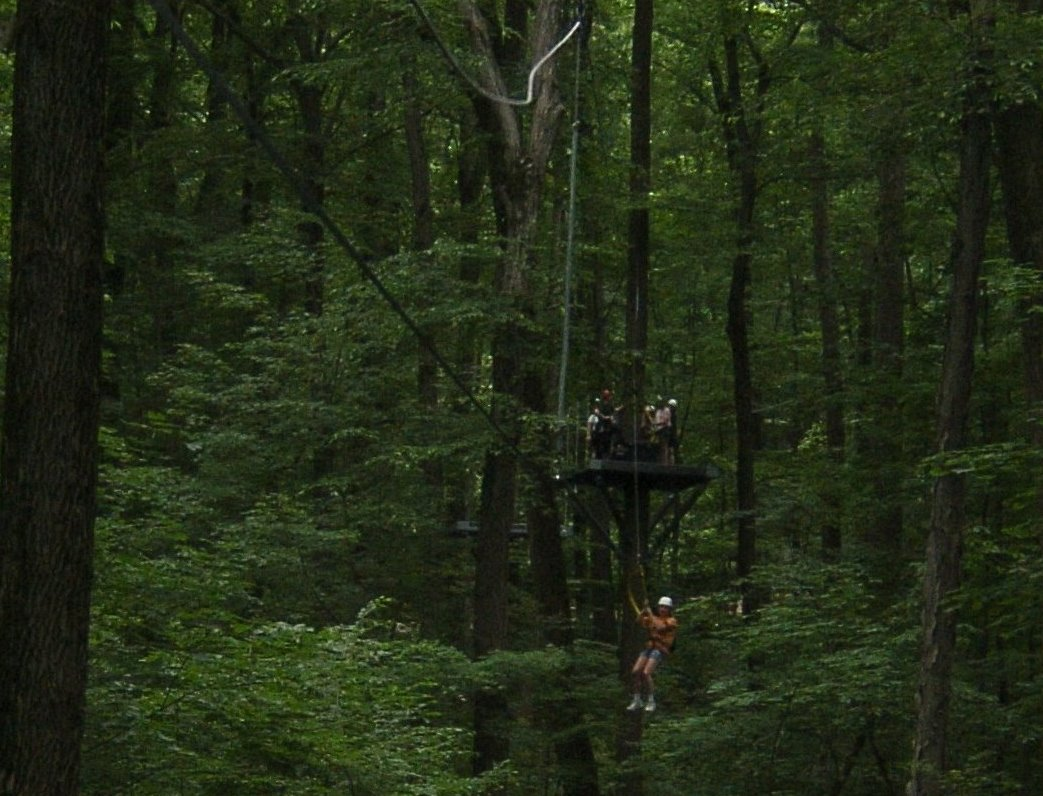 ziplining at Spring Mount, Collegeville, PA