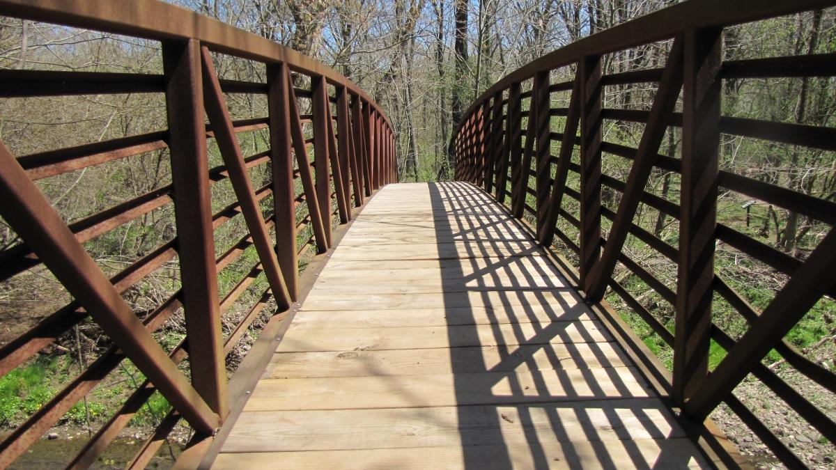 Rotary Bridge, Green Ribbon Trail. Ambler PA