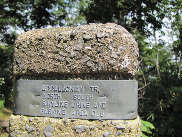 Appalachian Trail Marker, Shenandoah National Park, VA